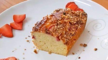 Plumcake ricotta e fragole: il dolce soffice e goloso da provare