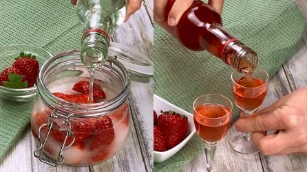 Liquore alle fragole fatto in casa: perfetto da servire freddo!