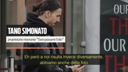 """Il ristoratore che ha aperto a Ibrahimovic in zona rossa: """"Ma quale c***o di pandemia? Avete rotto i c*****i"""""""