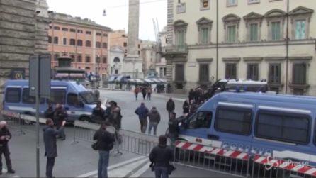 """Protesta """"Io apro"""", il centro di Roma blindato in attesa della manifestazione"""