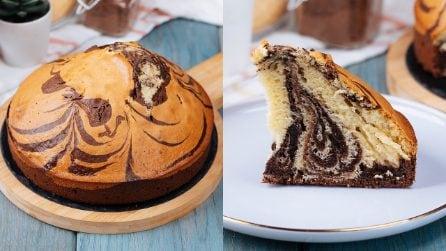 Zebra cake: ready in 5 minutes!