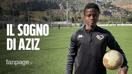 Dalle botte nei centri di detenzione in Libia al Palermo Calcio via barcone: la favola di Aziz