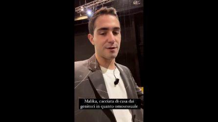 Tommaso Zorzi insieme a Malika per il Maurizio Costanzo Show