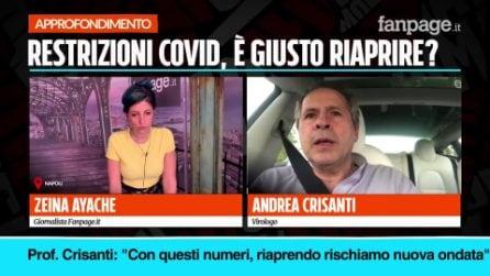 """Nuovo Dpcm e riaperture, Crisanti: """"Con questi numeri, riaprendo, si rischia nuova ondata"""""""