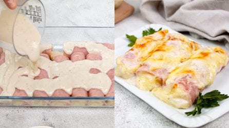 Rotoli di prosciutto e formaggio: una cena squisita da portare in tavola!