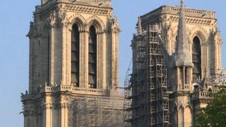 Notre Dame vista dall'esterno a due anni dal tragico incendio