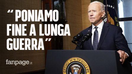 Biden annuncia ritiro truppe Usa dall'Afghanistan entro l'11 settembre, 20 anni dopo l'attentato