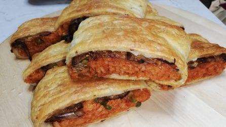 Fagottini rustici con riso e melanzane: la ricetta squisita e semplice