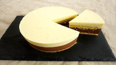 Torta bavarese al doppio cioccolato: la ricetta del cremoso dessert
