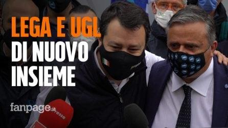 """Ugl a Milano per il Primo maggio, giornalisti strattonati, Salvini: """"Solidarietà a Durigon"""""""