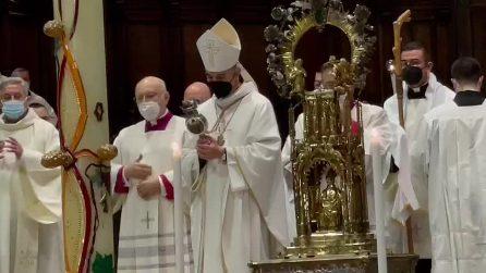 San Gennaro, non si ripete il miracolo di maggio: il sangue non è sciolto