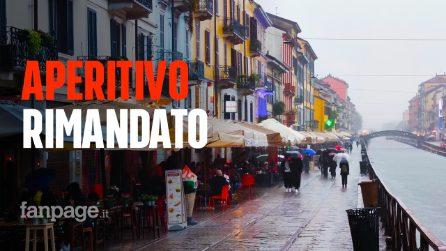 Milano, la pioggia spegne la movida: solo pochi irriducibili dell'aperitivo nei dehors