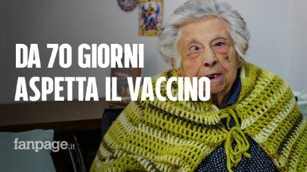 Napoli. Ha 96 anni e non cammina più: Carmela attende da febbraio il vaccino Covid-19