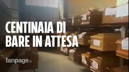 Roma, centinaia di bare nel deposito del cimitero Flaminio in attesa della cremazione