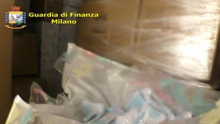 Milano, sequestrate 5 milioni di mascherine illegali in un deposito vicino alla stazione Centrale