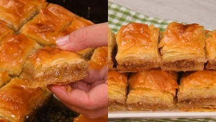 Baklava with walnuts: the delicious and easy-to-prepare rustics!