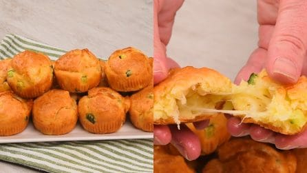 Savory muffins stuffed with zucchini: fluffy and fragrant!