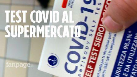 """Il test Covid arriva al supermercato: """"Non sostituiranno i tamponi"""""""