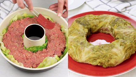 Ciambella di cavolo verza ripiena di carne: la torta salata da preparare nei momenti speciali!