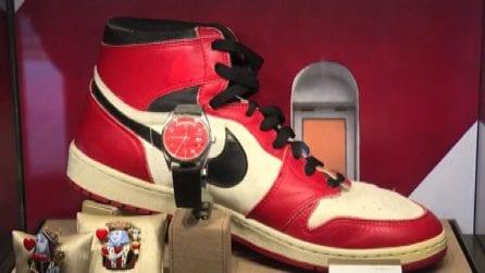 Le Air Jordan 1 di Michael Jordan all'asta da Sotheby's a Ginevra
