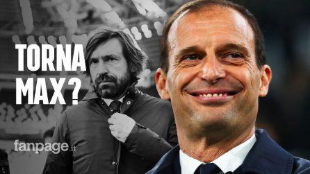 """""""Allegri ha scelto la Juventus"""": svolta in casa bianconera, Pirlo ai titoli di coda"""