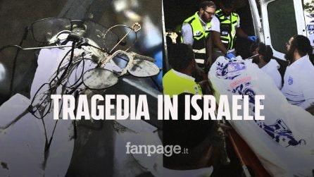 Tragedia in Israele durante raduno religioso: crolla passerella, 44 morti e 150 feriti