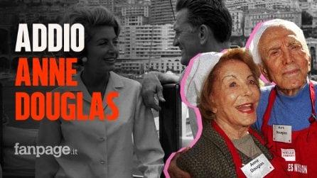 Morta Anne Douglas, a 102 anni ha raggiunto il suo amato Kirk a poco più di un anno di distanza