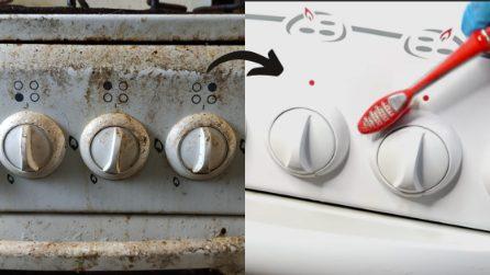 Come pulire le manopole del forno