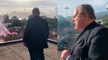 """Salernitana, Lotito urla ai tifosi: """"Allestiremo una squadra competitiva, al di la della mia presenza"""""""