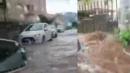 Le strade diventano torrenti: bomba d'acqua nel Sud della Sardegna