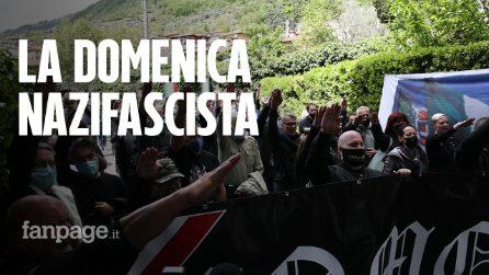 Saluti romani, svastiche e selfie con bambini: l'estrema destra ricorda Mussolini a Como