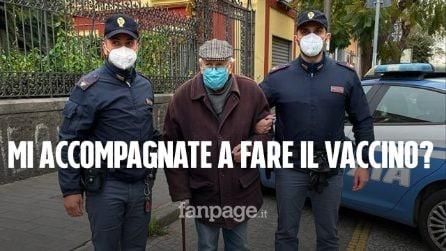 """Anziano di 89 anni si presenta in commissariato a Napoli:""""Potete accompagnarmi a fare il vaccino?"""""""