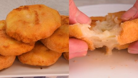 Potato medallions: cheesy and tasteful!