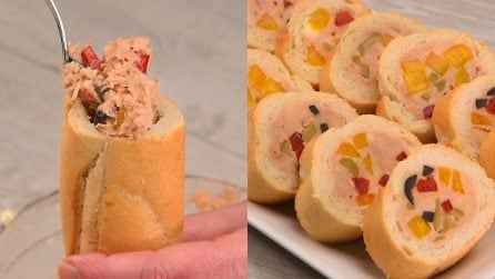 Tuna stuffed baguette: the fresh and delicious idea perfect for your appetizer!
