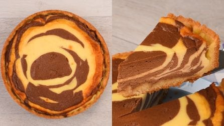 Cheesecake zebrata: l'idea golosa e facile da realizzare!