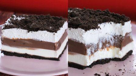 Lasagna al cioccolato senza cottura: dolcissima e golosa!