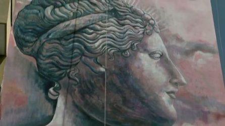 Svelato murales di Atoche #AMORETCURA: Venere per la prevenzione