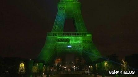 La Torre Eiffel illuminata grazie all'idrogeno rinnovabile