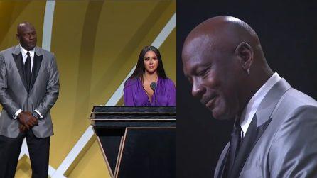 Kobe Bryant nella Hall of Fame, il toccante discorso di Vanessa fa commuovere Michael Jordan
