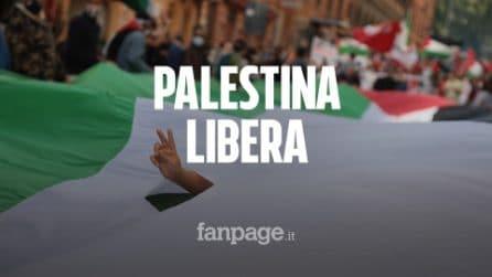 """Roma, in migliaia alla manifestazione pro Palestina: """"Basta bombe, basta occupazione israeliana"""""""