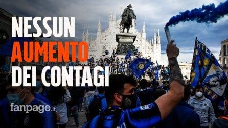 """Festa dell'Inter in Piazza Duomo, nessun aumento dei contagi: """"Più rischioso stare al chiuso"""""""