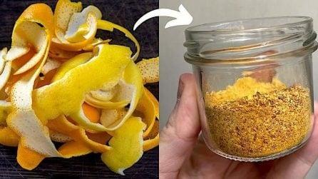 Polvere di limone e di arancia: l'aroma per dolci facilissimo da fare in casa!