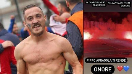 Suicidio Filippo Viscido, Afragola rende omaggio al suo ex calciatore