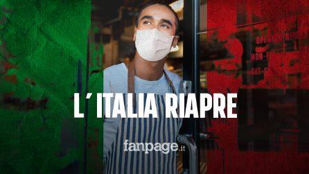 Nuovo decreto covid, l'Italia riapre: ecco cosa cambia da domani