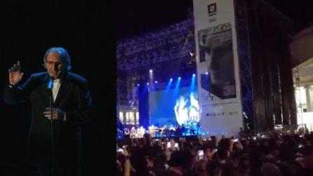 """Franco Battiato, l'ultimo concerto a Napoli e l'omaggio a Salvatore di Giacomo: """"Era de maggio"""""""