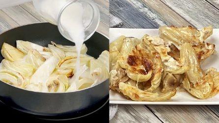 Finocchi gratinati al latte: leggeri e buoni!