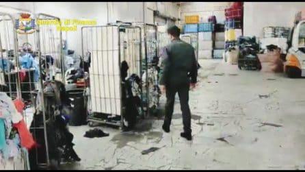 Maxi sequestro di abiti usati a Ercolano: non erano né igienizzati né sanificati