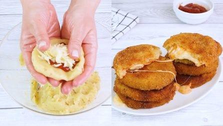 Medaglioni di patate gusto pizza: un secondo piatto filante e assolutamente da provare!