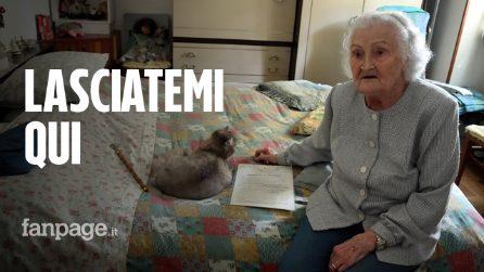 """Lea a 95 anni lotta per rimanere in una casa popolare: """"Ho sempre pagato, cosa vogliono?"""""""