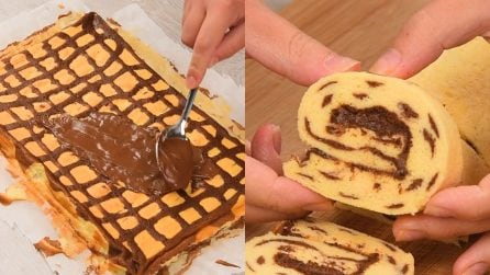 Bicolor roll: an incredible method to make a great dessert!